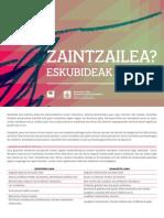 ZAINTZAILEENTZAT GIDA / GUÍA PARA LAS CUIDADORAS
