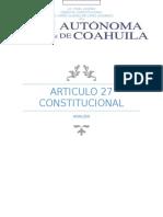 Articulo 27 Constitucional.