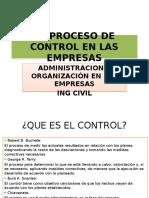 El Proceso de Control en Las Empresas