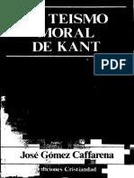 Gómez Caffarena - El Teismo Moral de Kant