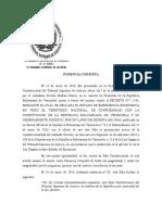 Sentencia Prórroga Estado de EmergenciaTSJ