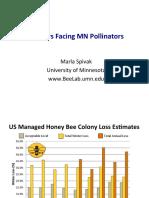 MDA Pollinators Summit Presentation by Marla Spivak