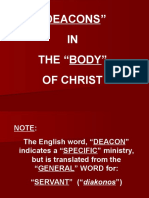 Deacons in the Body of Christ