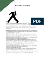 Ley de Tránsito Para Peatones