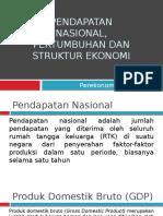Pendapatan Nasional, Pertumbuhan Dan Struktur Ekonomi