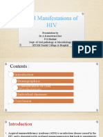 Hiv oral manifestation