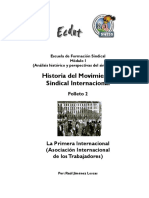 Historia Del Movimiento Sindical