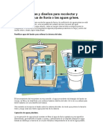 Diferentes Ideas y Diseños Para Recolectar y Reutilizar El Agua de Lluvia o Las Aguas Grises