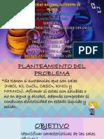 SOLUBILIDAD Y CONDUCTIVIDAD ELÉCTRICA DE LAS SALES.