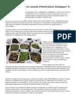 « Avoir un oeil à ces conseils d'Horticulture biologique! »