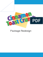 Cinnamon Toast Crunch Package Redesign Campaign Book