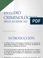 Estudio Criminológico (Reglas Básicas)