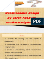 Questionnaire Design by Varun Kesavan