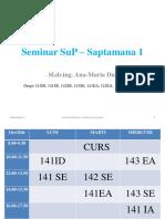 Seminar SuP Saptamana 1