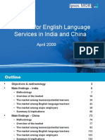 Demand for English Language Services in India and China