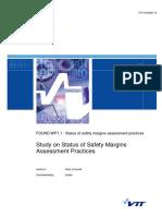Study on Status of Safety Margins Assessment Practices -- VTT-R-06265-15