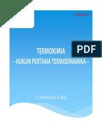 TERMOKIMIA - Hukum Termodinamika I (4)