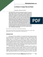 BioRes 10-3-5407 7393 Tutus KC Eval Tea Wastes Pulp Paper Product