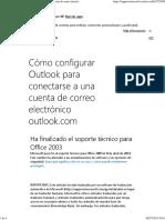 Cómo Configurar Outlook Para Conectarse a Una Cuenta de Correo Electrónico Outlook