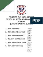 Former School Heads