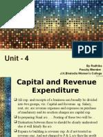Capital & Revenue Expenditure
