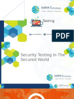 Security Testing In The Secured World