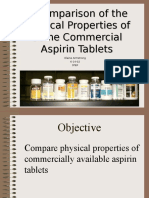 A Comparison of the Physical Properties of Some Commercial Aspirin Tablets