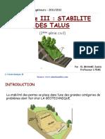 Ch 3 Stabilite Des Talus