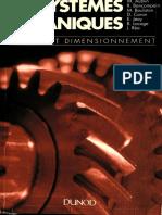 Systemes Mecaniques- Theorie Et Dimensionnement