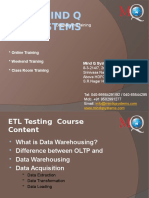 ETL Teting Training in Mind Q Systems