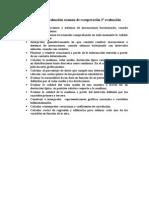 Criterios de evaluación examen de recuperación 2ª evaluación