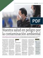 Nuestra Salud en Peligro Por La Contaminación Ambiental