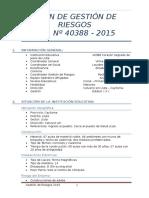 Plan de Gestión de Riesgos 2015