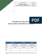 PTS - 001 Procedimiento de Trabajo Seguro en Cubiertas Revestimientos y Hojalateria