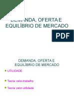 Aula Demanda Oferta e Equilíbrio de Mercado