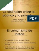 Lo público y lo privado. Aristóteles, Política II y Platón, República V