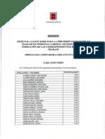 Baremación y listado definitivo (Discapacidad) Ordenanza Limpiador/a