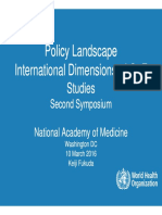 Policy Landscape International Dimensions of GOF Studies (Keiji Fukuda)