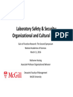 Laboratory Safety and Security