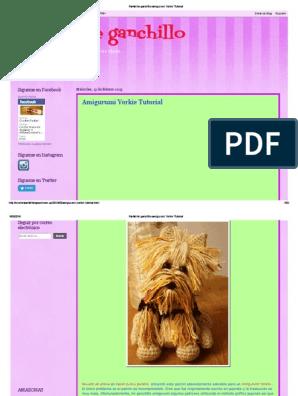 Crochet Parfait: Amigurumi Yorkie Tutorial | Hund häkeln ... | 396x298