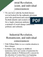 Industrial Revolution and Romanticism