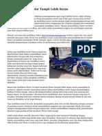 Tips Modifikasi Motor Tampil Lebih Keren