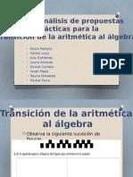 Tema 6. Análisis de Propuestas Didácticas Para La Transición de La Aritmética Al Álgebra