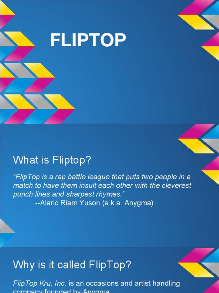 Fliptop  pdf | Rapping | Urban Street Dance And Music