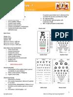 Performing an Eye Examination