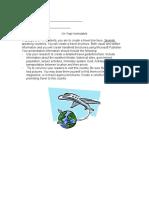 sp  3 travel brochure project