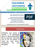 Recursos Naturales y Necesidades de México