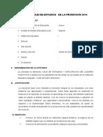 Plan de Viaje de Estudios Promocion 2014