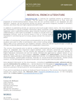CFP - Medieval French Literature