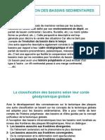 Classification Des Bassins Sedimentaires